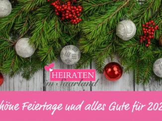 Die Redaktion von Heiraten im Saarland wünscht frohe Weihnachten!