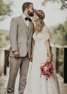 Braut Trend Frisur Blütenpracht
